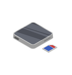 mp3 player device isometric 3d icon vector image