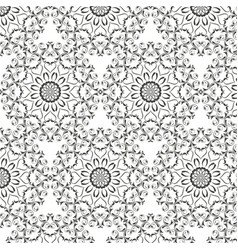 Oriental pattern with round arabesques elements vector