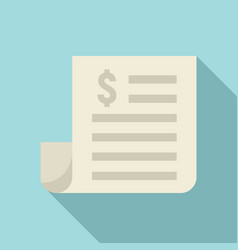 paper money loan icon flat style vector image