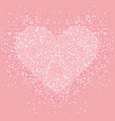 Pastel pink glitter heart shimmer love vector