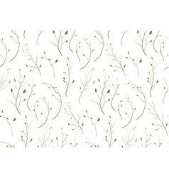 pattern seamless of tree branch different foliage vector image