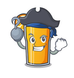 Pirate orange juice character cartoon vector