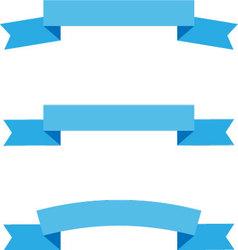 Ribbon flat style set vector image