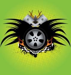 rim emblem vector image vector image