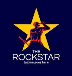 Rockstar man symbol version 2 vector