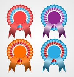 Rosette Ribbon Set vector image