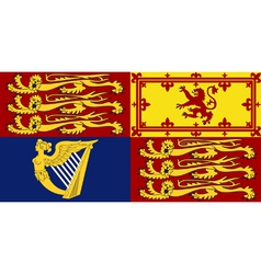 Royal Standard of the United Kingdom vector