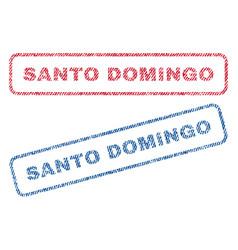 Santo domingo textile stamps vector