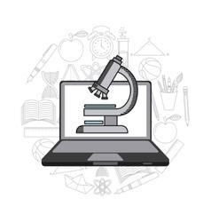 Science lab design vector