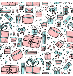 seamless pattern of gift vector image