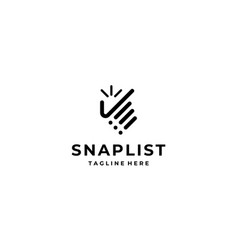 Snap list logo design template vector