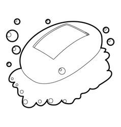 Soap icon outline vector