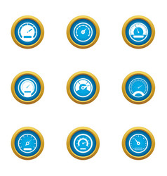 Speed icons set flat style vector