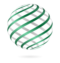 Spiral logo ball vector