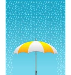Striped opened umbrella vector