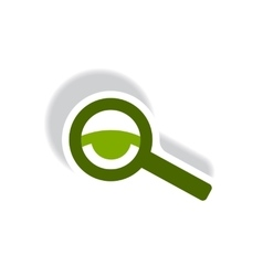 stylish icon in paper sticker style eyesight check vector image