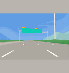 Super highway scene vector