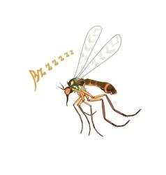 The mosquito flies suck blood vector