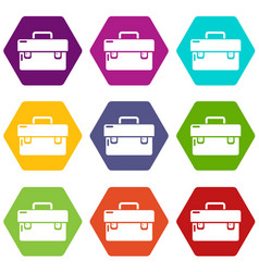 tool box icons set 9 vector image