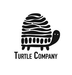 Turtle logo black silhouette for your design vector
