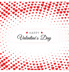 valentines day greeting card halftone confetti vector image