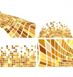 vector golden abstract backgrounds set vector image