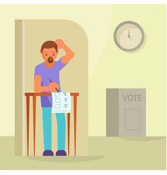 Voting and election concept flat vector
