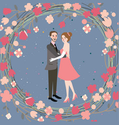 couple wedding bride grom character vector image vector image