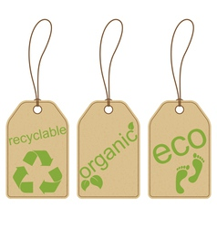 Eco friendly tags vector image