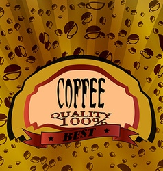 Gold coffee labe vector image