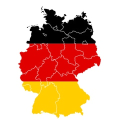 Map and flag of Germany vector image