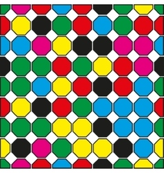 Seamless pattern of colored hexagons on a white vector image vector image