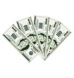 five hundred dollar bills vector image vector image