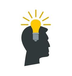 light bulb idea icon flat style vector image