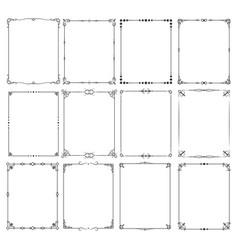 retro classic elegant frame borders set for vector image