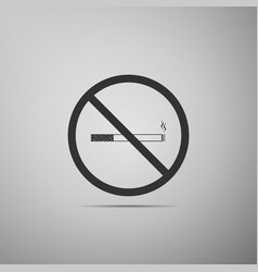 no smoking sign icon cigarette symbol isolated vector image vector image