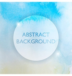 Abstract Watercolor Blue and Yellow Background vector image vector image