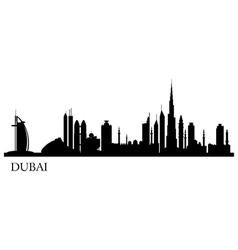 Dubai city silhouette skyline vector