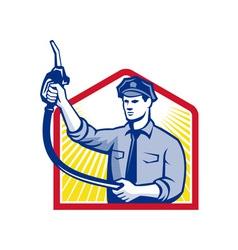 Gas Jockey Gasoline Attendant Fuel Pump Nozzle vector image vector image