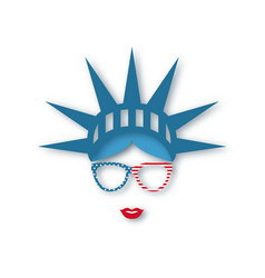 4th july independence day girl in symbolic hat vector image