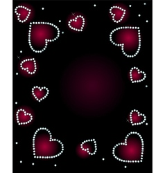 Abstract Background With Diamond Hearts vector