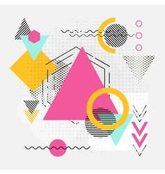 Abstract geometric shapes background with lines vector image