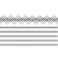 Abstract monochrome dot pattern separator line set vector
