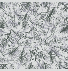 abstract monochrome vegetation floral vector image