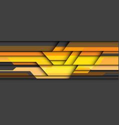 abstract yellow orange geometric cyber on grey vector image