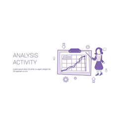 analysis activity web banner with copy space vector image