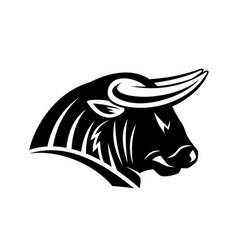 Angry bull icon vector