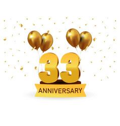 Anniversary gold numbers vector