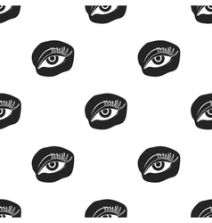 Applied mascara icon in black style isolated on vector image
