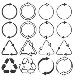 arrows in various type vector image